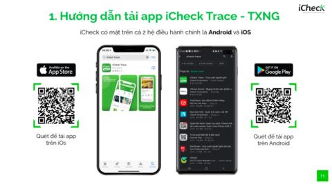 Hướng dẫn cài đặt, đăng ký, đăng nhập quản lý sản phẩm Truy Xuất Nguồn Gốc (TXNG) trên App iCheck Trace